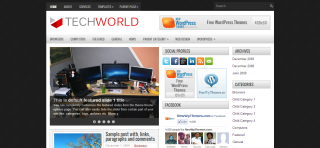 TechWorld WordPress Template Is a Premium And Simple Wp Template